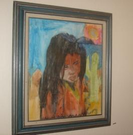 christina's original painting of Hopi Indian child