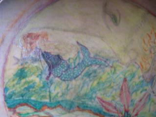 Mermaid on Moon Drum