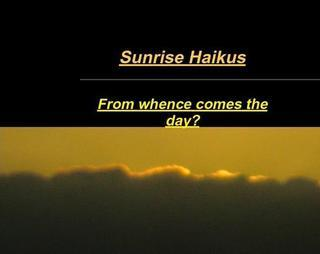 HAIKU POEMS AND PICTS