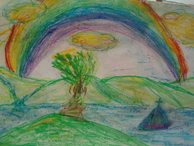 oil pastel of hawaii by andi bowe